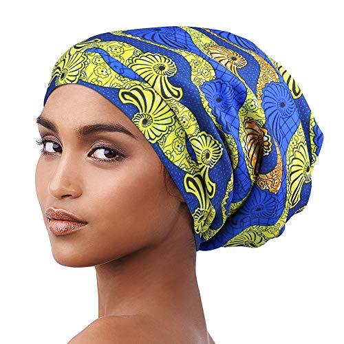 Alnorm Sleep Cap Satin Bonnets Hat for Black Women Natural Hair Curly Hair Braids