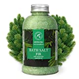 Fir Bath Salt with Natural Fir Essential Oil 21.16 Ounces - Natural Bath Sea...