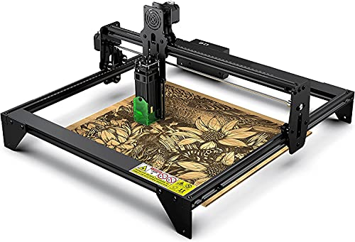 Desktop Laser Engraver 5000mW 20W, Upgraded 41x40cm CNC Laser Engraving Machine Wood Cutter Carving for Acrylic Leather MDF Logo Picture DIY Making GRBL Control (20W A5)