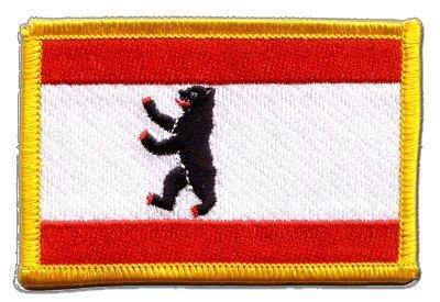 Flaggen Aufnäher Deutschland Berlin Fahne Patch + gratis Aufkleber, Flaggenfritze®