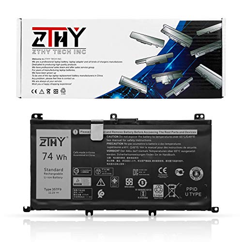 ZTHY New 357F9 Battery Replacement for Dell Inspiron 7000 Dump 15 7566 7567 7557 7559 I7559 5576 5577 INS15PD-1548B 1548R 1748B 1748R 2548R 2548B 2748R Series Gaming Laptop 0GFJ6 71JF4 11.1V 74Wh