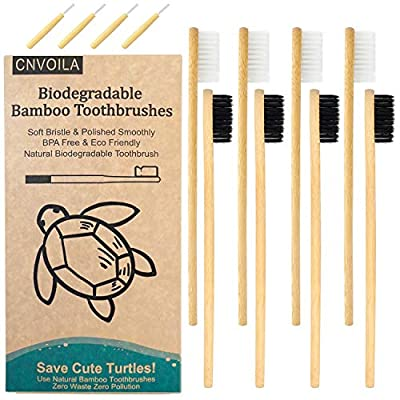 Bamboo Carcoal Toothbrush Soft Bristle, Kids Toddler Toothbrush Eco Friendly