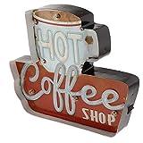 Ykop Caja de luz LED vintage con diseño de café, para bar, cafetería, restaurante, club,...