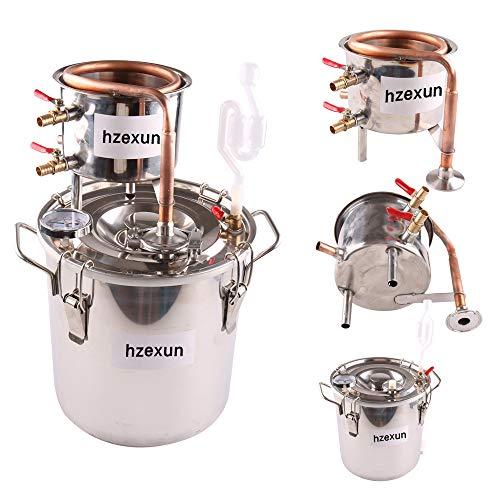 hzexun Distillatore Domestico Fai-da-te Moonshine Still In Acciaio Inossidabile Kit Per Alcool Con Acqua Caldaia, 2-26 Galloni / 10-100 L, Nastro