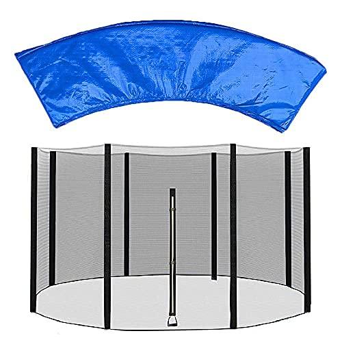Repuesto de red para cama elástica de 1,8 m, 2,4 m, 3,6 m, 4,3 m, repuesto para cama elástica y almohadilla envolvente para cama elástica, accesorio para cama elástica fácil de instalar