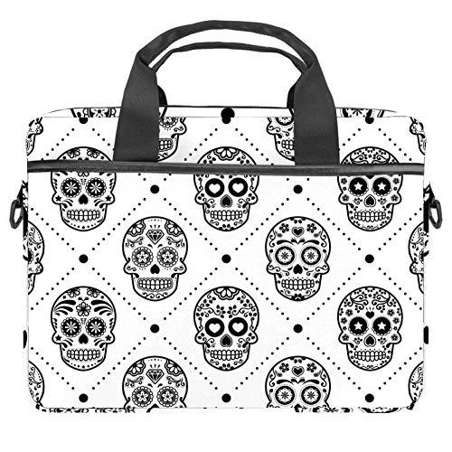 Halloween Mexican Sugar Skull Laptop Bag The Laptop Briefcase Shoulder Messenger Bag Case Sleeve