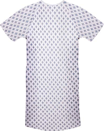 Utopia Care 1 Pack Cotton Blend Hospital Gown, Back Tie, 45