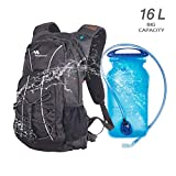 Hiking Backpack with Water Bladder Sport Water 16L Hydration Daypack for Women Men with 2L Leak-Proof Bladder,...