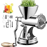 Manual Wheatgrass Juicer with Suction Cup Base & Desktop Clamp Wheat Grass Grinder