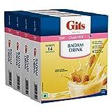 Gits Badam Drink Mix, 800g (Pack of 4 X 200g Each)