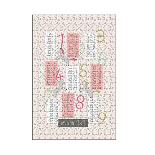 artboxONE-Puzzle M (266 Teile) Für Kinder Pferde Einmaleins Lernposter 1x1 - Puzzle Pferd einmaleins Geschenk