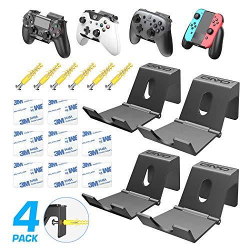 OIVO Controller Wall Mount Holder for PS3/PS4/PS5/Xbox 360/Xbox One/S/X/Elite/Series S/Series X Controller, Pro Controller, Foldable Wall Mount for Video Game Controller&Headphones -4 Pack