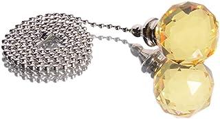 OSALADI 2pcs Ventilador de Techo Cadena de tracción Cadena de Cristal Dorada Ventilador Cadena de tracción Cadena de tracción Accesorios de la lámpara Extensor 30mm