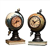 GH American Retro Reloj De Péndulo Globo Home Living Room TV Cabinet Entrada Reloj De Mesa Oficina Decoración