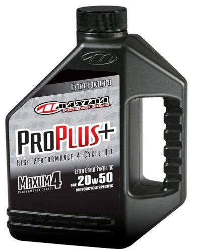 Maxima (30-039128 Pro Plus+ 20W-50 Synthetic Motorcycle Engine Oil - 1 Gallon