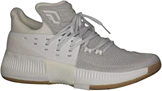 adidas Dame 3 Shoe Mens Basketball 11.5 White-White-Gum