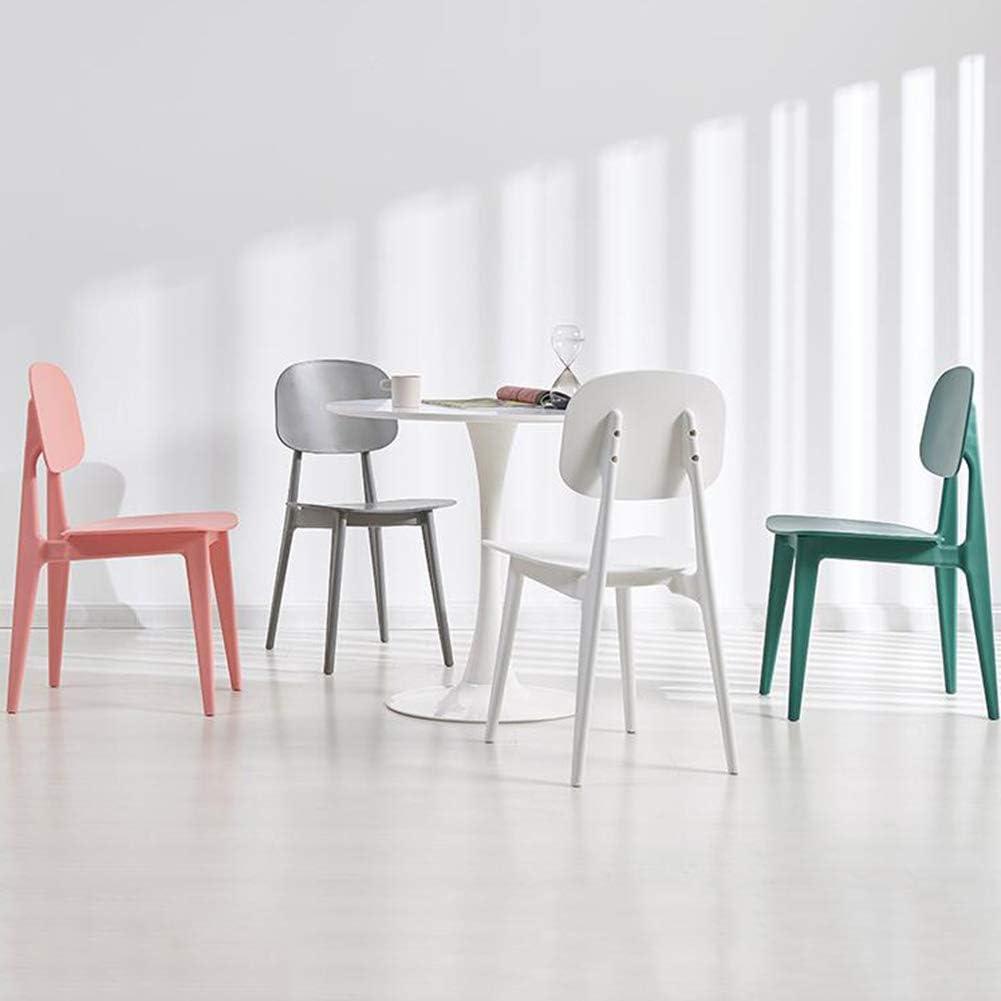 WYYY chaise de Bureau Chaises De Salle À Manger Contemporain Siège en Plastique Bureau Chaise Longue Durable Fort (Couleur : Gray) Blanc