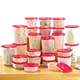 Rotating Plastic Food Storage Container System for Kitchen - 49PC