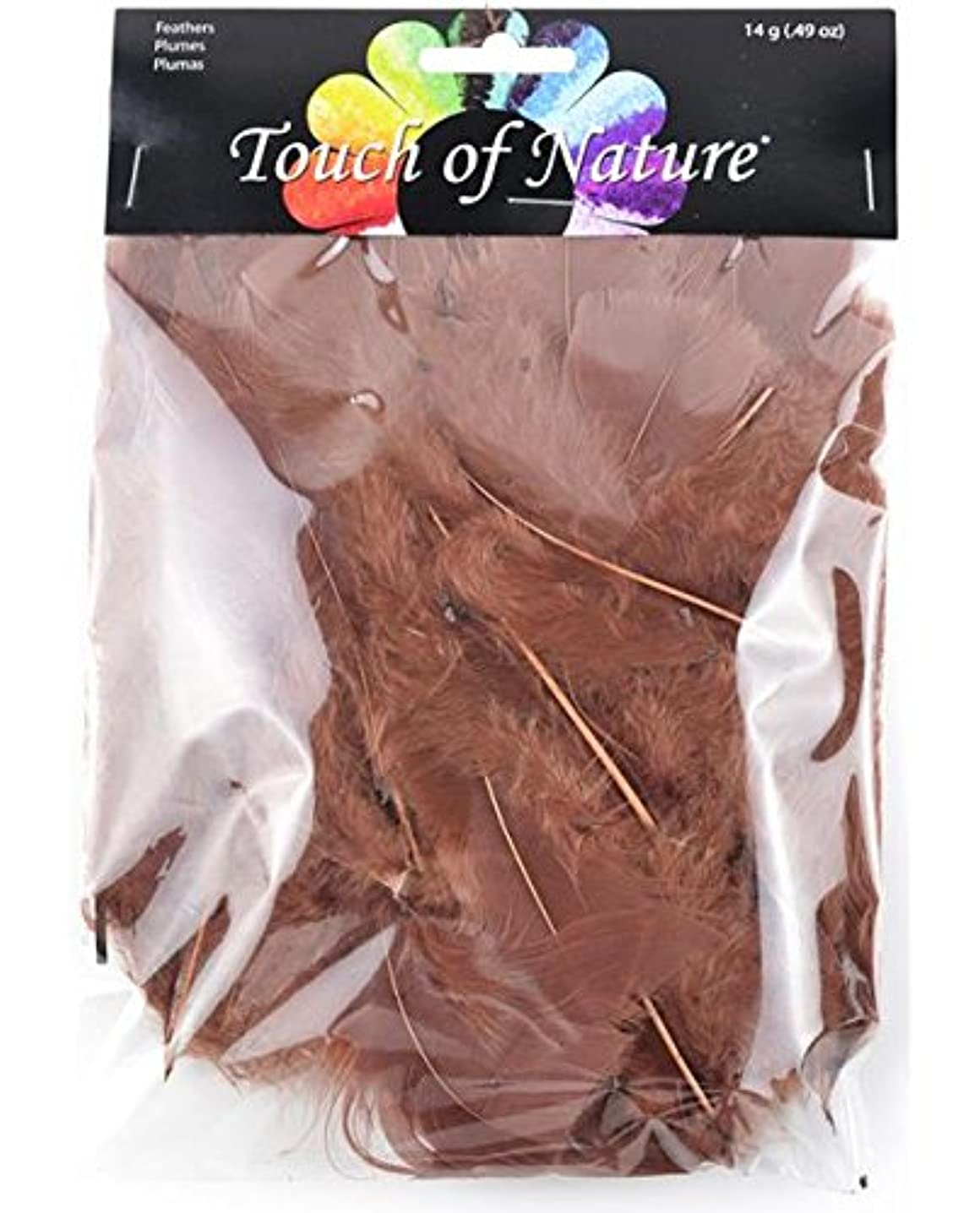 Touch of Nature Turkey Flat Feathers, 14gm, Sienna