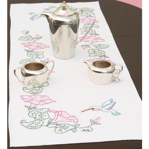 Jack Dempsey écharpe en Coton mélangé Poinçon Chemin de table/38 x 42-inch-hu mmingbird