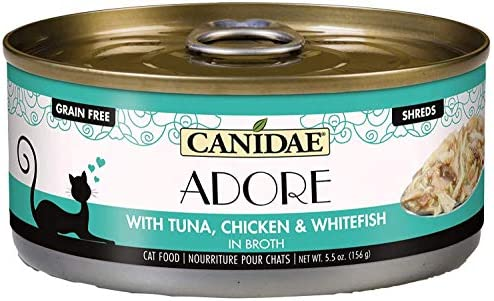Canidae Adore Grain Free Wet Cat Food Tuna Chicken and Whitefish in Broth 5 5oz product image