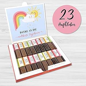 Aufkleber Set für Merci Schokolade | persönliches Geschenk für die Erzieherin/Kindergärtnerin