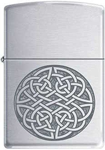 Celtic Knot Irish Pride Engraved Symbol Chrome Zippo Lighter