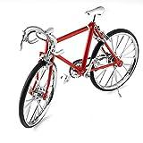 Miniatura de bicicleta de metal, color rojo