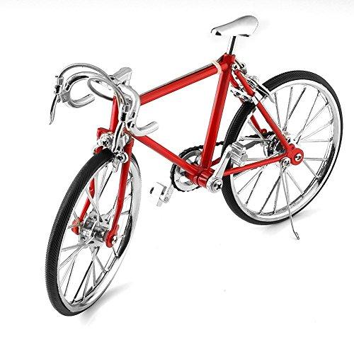 Geschenk Diecast Model Kollektionen Fahrrad Metall Modell-Fahrrad aus Metall Rot (Rot) …