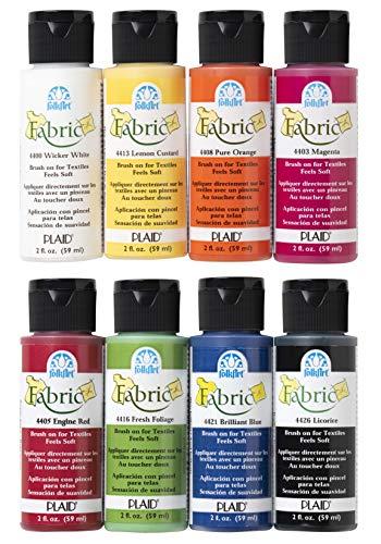 FolkArt Brush on Fabric Paint Beginner Set (2-Ounce),