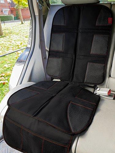 Maximo Autokinderschutz - Premium Qualität - Schützt die Autopolsterung vor Kindersitzen vor Schmutz und Flecken - Universelle Größe - Dickes Material - Rutschfester Rückseite - Netztaschen