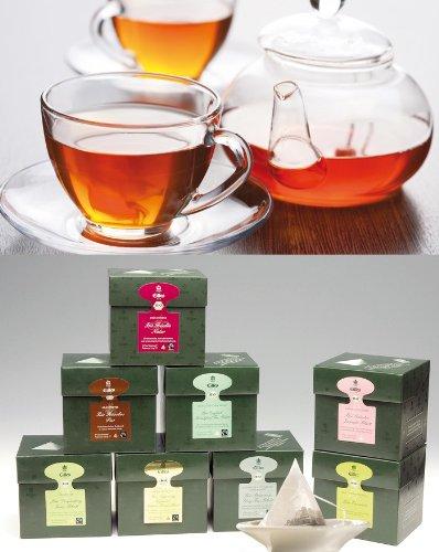 KLASSIKER EILLES Tea Diamonds Probierset mit gratis Teeglas und großem GOURVITA Cookie (Sparset 6 Schachteln mit je 20 Beutel Tee)