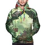 Zoo-Topia Men's Novelty Hoodie Casual Sweatshirt with Kangaroo Pocket Hoodies Coat 3X-Large Black