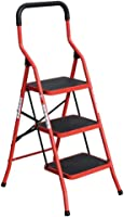 ZXCMNB Staircase, Stool Stair Multi-layer Folding Stool Kitchen Stair Chair Multifunctional Thick Material Household Folding Contour Ladder Step Stool (Color : Three Steps)