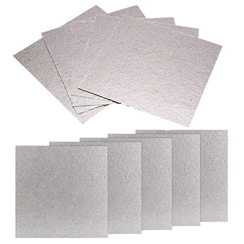 Glimmerscheibe Mikrowelle Hohlleiterabdeckung Glimmerscheibe für Mikrowellen Blätter Glimmerplatten Glimmerplatte Blatt für Mikrowelle Blätter Glimmerplatten Ofen Reparatur Teil Platten (10 Stück)