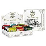 Scatola Regalo di Tè Assortiti Tea Mlesna 120 filtri - Confezione regalo di colore Bianco con assortimento di Tè classici, Tè Verdi, Tè alla frutta