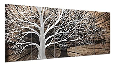 Yihui Arts Multi-Colored Tree Metal Wall Art from Yihui Arts