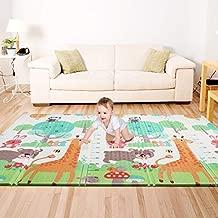 Bammax Play Mat, Folding Mat Baby Crawling Mat Kids Playmat Waterproof Non Toxic for Babies, Infants, Toddlers, 70