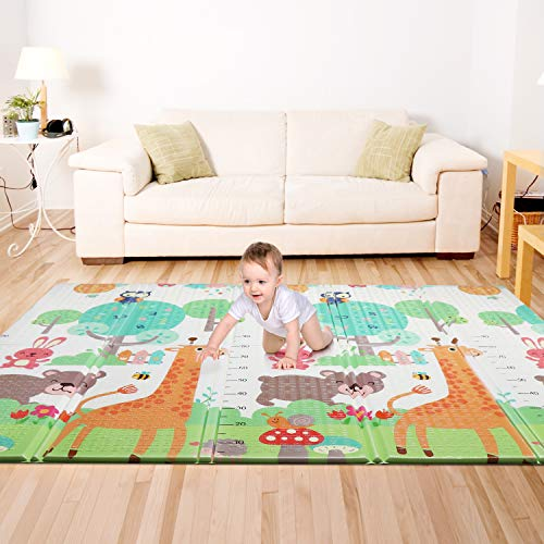 Bammax Baby Play Mat, Foam Playmat for Baby Floor Play Baby Crawling Mat Large Soft Thick Baby Mat, Water-Proof Reversible Toxic Free, 177 x 197 x 1.5cm
