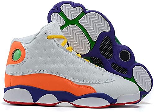 CPBY Men13 Decompressione Traspirante Nuove Scarpe da Basket Abbigliamento Abbigliamento Scarpe Traspiranti, Orange/White - 8