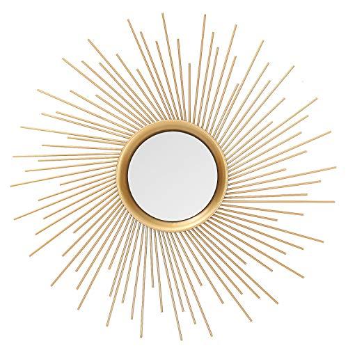 Asense Home Collection Sunburst Mirror, Classic Metal Decorative Wall -