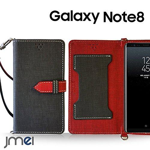 Galaxy Note 8 ケース手帳型 ギャラクシー ノート 8 カバー ブランド 手帳 閉じたまま通話ケース VESTA グレー Samsung サムスン SC-01K SCV37 simフリー スマホ カバー 携帯ケース 手帳型 スマホケース 全機種