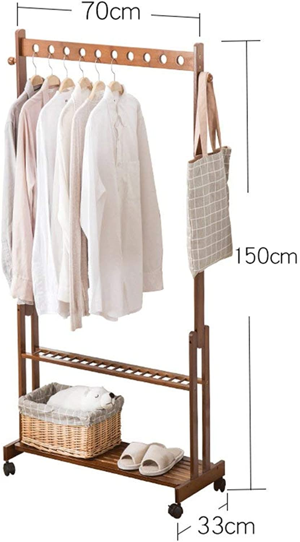 DYR Coat Racks Multi-Functional Bamboo Multi-Purpose Coat Racks Hangers Living Room Shelf Coat Racks Coat Racks Stable and Resistant Coat Racks (color  150  70 cm)