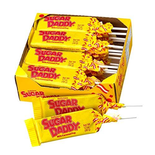 Sugar Daddies Milk Caramel Pops 24Count of 17 Oz Pops