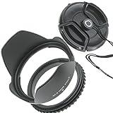 ZEROPORT JAPAN 花形レンズフード 77mm 反転収納OK ねじ込み式 各レンズメーカー対応 レンズキャップ付 ZPJGREENhanten77CAP