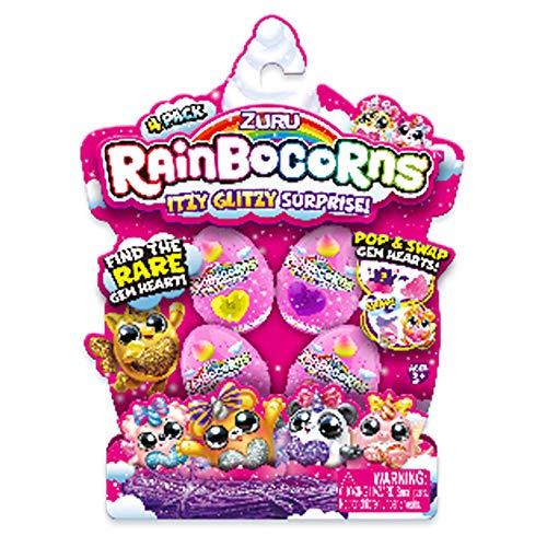 Rainbocorns- Mini Pack 4 Figuras Juguete (Concentra 9208)