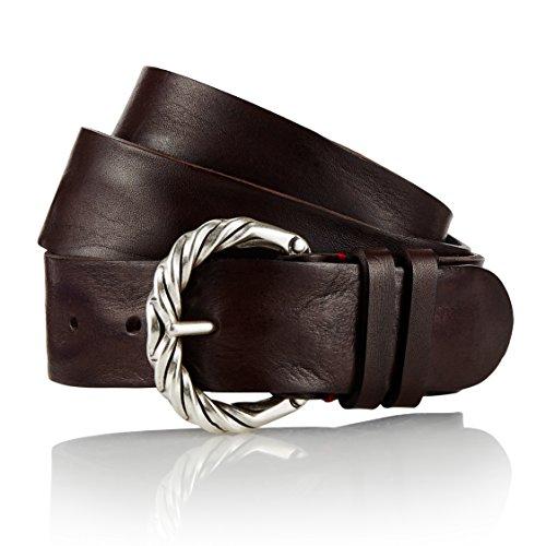GUT INSTINKT - Cinturón de cuero para hombre de mezclilla de cuero italiano de lujo artesanal - ODUL