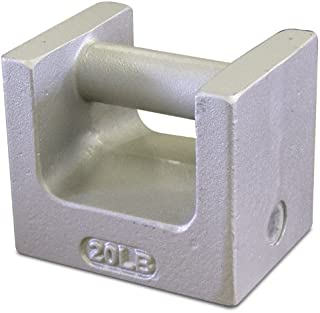 Rice Lake 12870 Cast Iron Painted Grip Handle Test Weight, 20lb Mass, NIST Class F