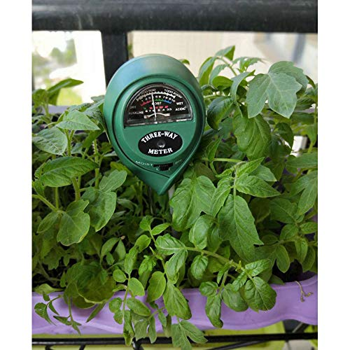 New Alician Three-in-one Round Gardening PH Soil Tester Hygrometer Illuminance Tester Household Supp...