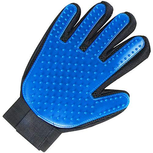 ZHHAOXINPA Pet Handschoenen, Vijf Vinger Deshedding Handschoen, Geweldig voor Katten & Honden- Inclusief 1 Authentieke True Touch Handschoen